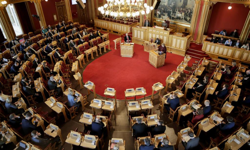 ALLE MÅ MØTE: Alle de 169 representantene skal møte når bioteknologiloven skal opp til behandling i Stortinget på tirdag. Foto: Vidar Ruud / NTB scanpix