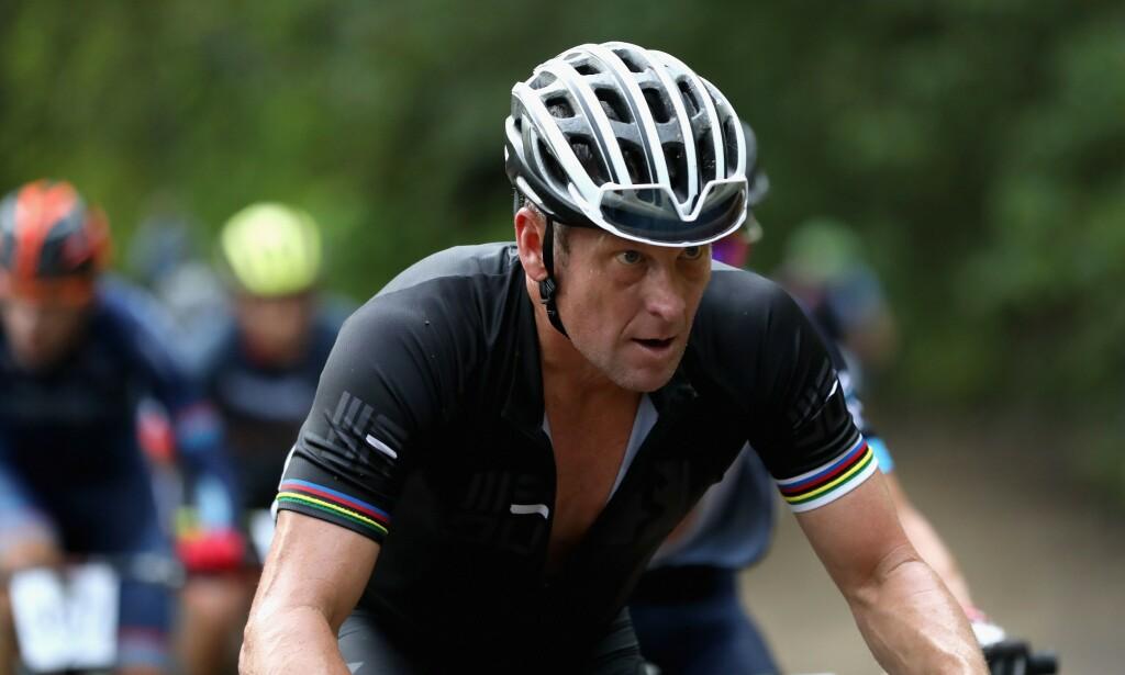 SYKLET IGJEN: Lance Armstrong i 2018 under LA Ruta de Los Conquistadores. Foto: NTB Scanpix