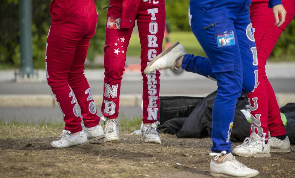 FEIERER FORTSATT: Russen feirer fortsatt flere steder i landet. Her fra Sagene i Oslo tidligere i mai. Foto: Terje Pedersen / NTB scanpix