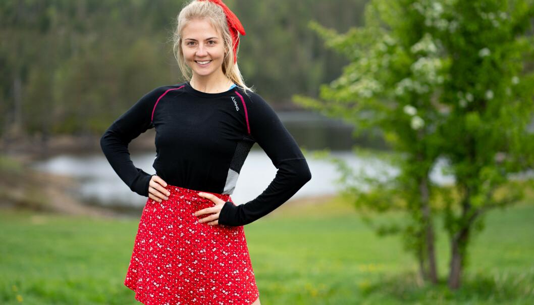 HEIAJENTE: Kine Olsen Vedelden er ikke fremmed for verken konkurranser eller heiing. Foto: Espen Solli/TV 2