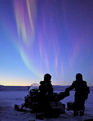 MAGISK: De to kvinnene sier oppholdet har vært magisk, til tross for både utfordringer og ekstrem kulde. Foto: Privat/Hearts in the ice