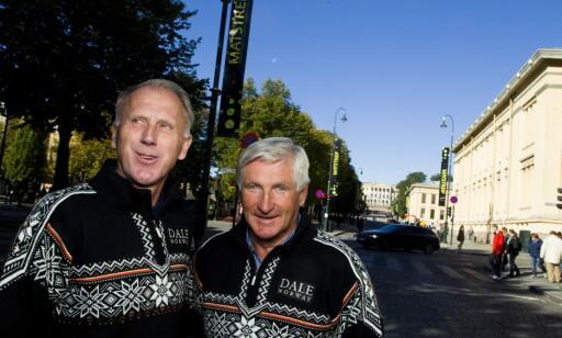 TO STOLTE VINNERE AV EGEBERGS ÆRESPRIS: Oddvar Brå (t.v.) og Bjørn Wirkola. Foto: Berit Roald / Scanpix