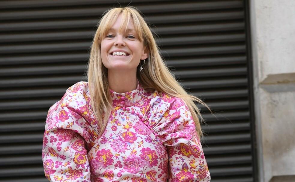 PANNELUGG: Danske Jeanette Madsen har hatt pannelugg i lang tid og vi elsker denne frisyren! Foto NTB Scanpix