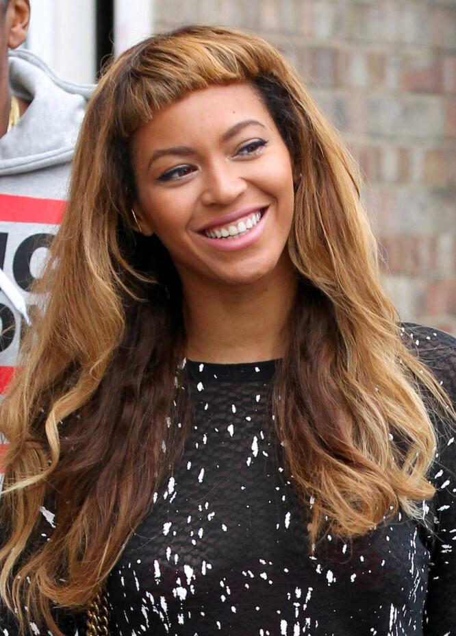 KORT LUGG: I 2014 møtte Beyonce opp med denne panneluggen. Det er en ganske «vågal» lengde fordi den er såpass kort, men kanskje det er noe for deg? Foto: NTB Scanpix