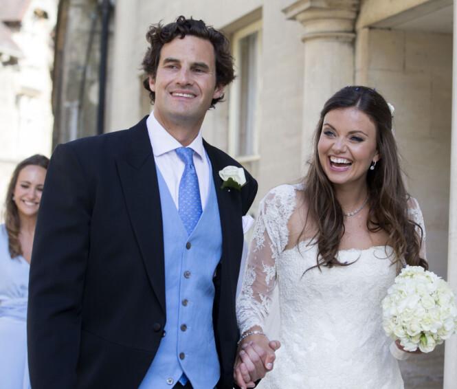 BRYLLUP: Kates ekskjæreste Rupert Finch giftet seg med sosietetskvinnen Lady Natasha Rufus Isaacs i 2013. Hun er en god venn av prins William, og begge inviterte eksene i hverandres bryllup. FOTO: NTB scanpix