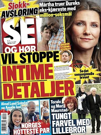 AVSLØRING: Se og Hør kan avsløre at Durek Verrett og prinsesse Märtha Louise har sendt et brev til førstnevntes ekskjæreste, der de truer med søksmål. Les hele historien i ukens utgave. Faksimile: Se og Hør