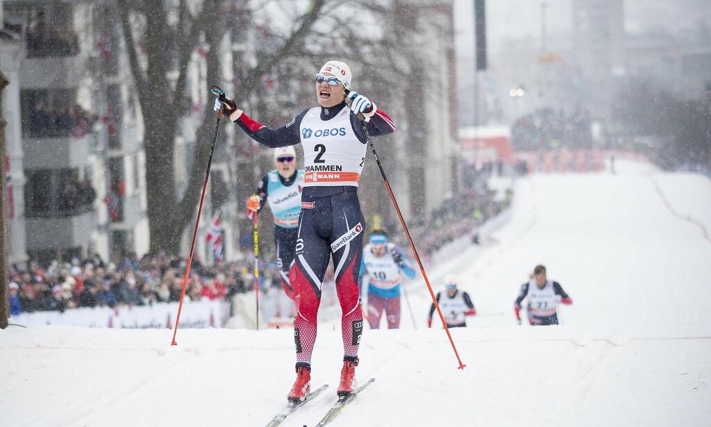 DRAMMEN-SPESIALIST: Erik Brandsdal var alltid god i Drammen og vant flere verdenscupseire her. Foto: Bjrn Langsem / Dagbladet