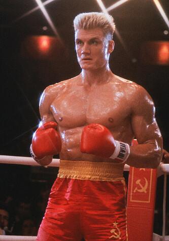 KULTFIGUR: Dolph Lundgren som den russiske bokseren Ivan Drago i «Rocky 4». Foto: NTB scanpix