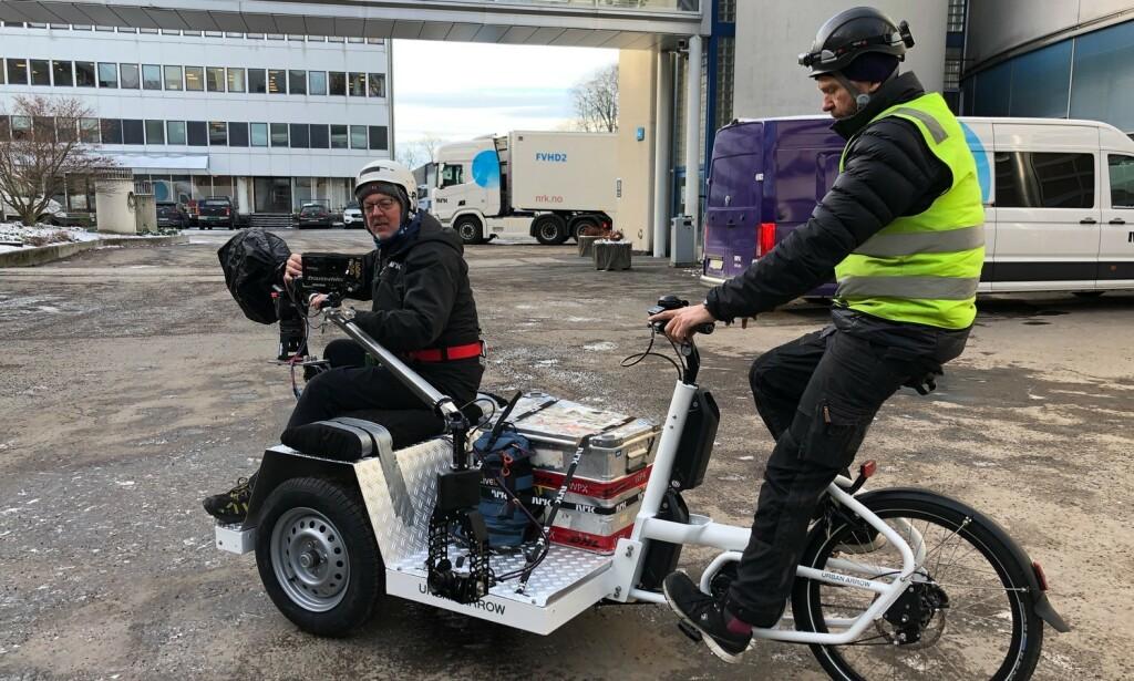 VILLE SYKLE: NRK har laget spesialsykler til sakte-tv bruk sommeren 2020, men måtte vrake planene. Foto: NRK