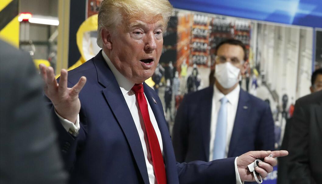 President Donald Trump spredte i helgen en grunnløs påstand om at Joe Scarborough hadde noe å gjøre med praktikantens død i 2001. Tirsdag tvitret han på ny om en påstått «cold case». Foto: Alex Brandon / AP / NTB scanpix