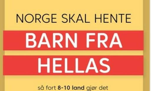 HARSELAS: Plakaten som KrF la ut i går, har fått flere til å trekke på smilebåndet: Foto: Skjermdump