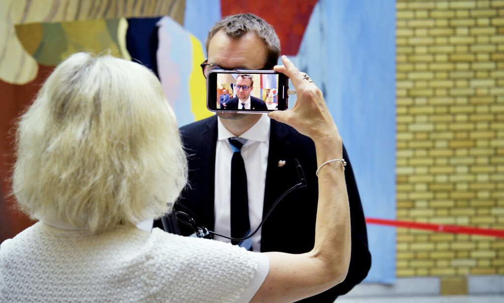 NEDERLAG: KrF-leder Kjell Ingolf Ropstad gikk på et stort nederlag om bioteknologi på Stortinget i går, men gledet seg over gjennomslag for Moria-flyktninger. Foto: Lars Eivind Bones/Dagbladet