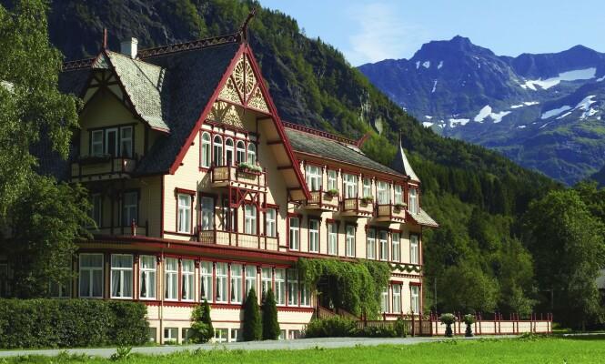 GRIEG VAR HER: Dette 130 år gamle hotellet har en veldig bra CV. Bare sjekk hvem som har bodd he! Foto: De historiske