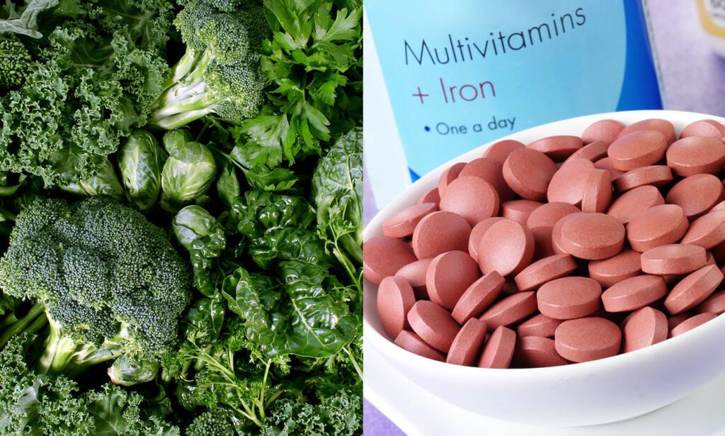 KAN GI GRØNN AVFØRING: Enkelte matvarer og medisiner kan farge bæsj grønn. Foto: NTB Scanpix/Shutterstock