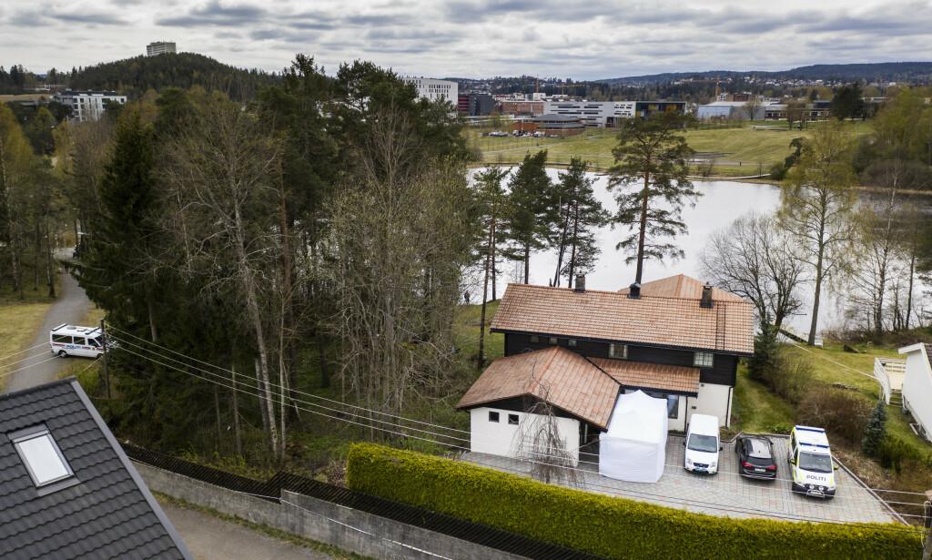 ÅSTED? Politiet mener Anne-Elisabeth Hagen ble drept i hennes og ektemannens hjem i Sloraveien på Lørenskog. Foto: Nina Hansen / Dagbladet