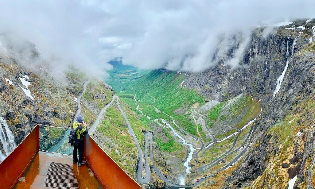Trollenes rike: Trollstigen er magisk også når været ikke er på det aller beste. Foto: Odd Roar Lange/The Travel Inspector