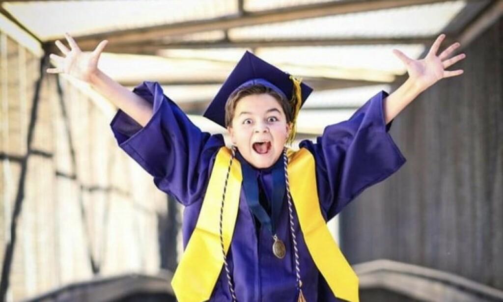 HISTORISK: Jack Rico er den yngste som har uteksaminert seg ved Fullerton College. Foto: Sara Ancich Photography
