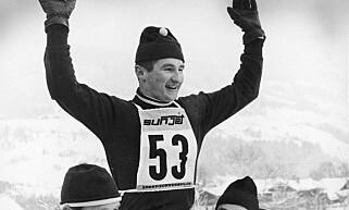 UNIK KARRIERE: Bjørn Wirkola var verdens beste skihopper og kombinerte det med en imponerende fotballkarriere for Rosenborg. Foto: Scanpix