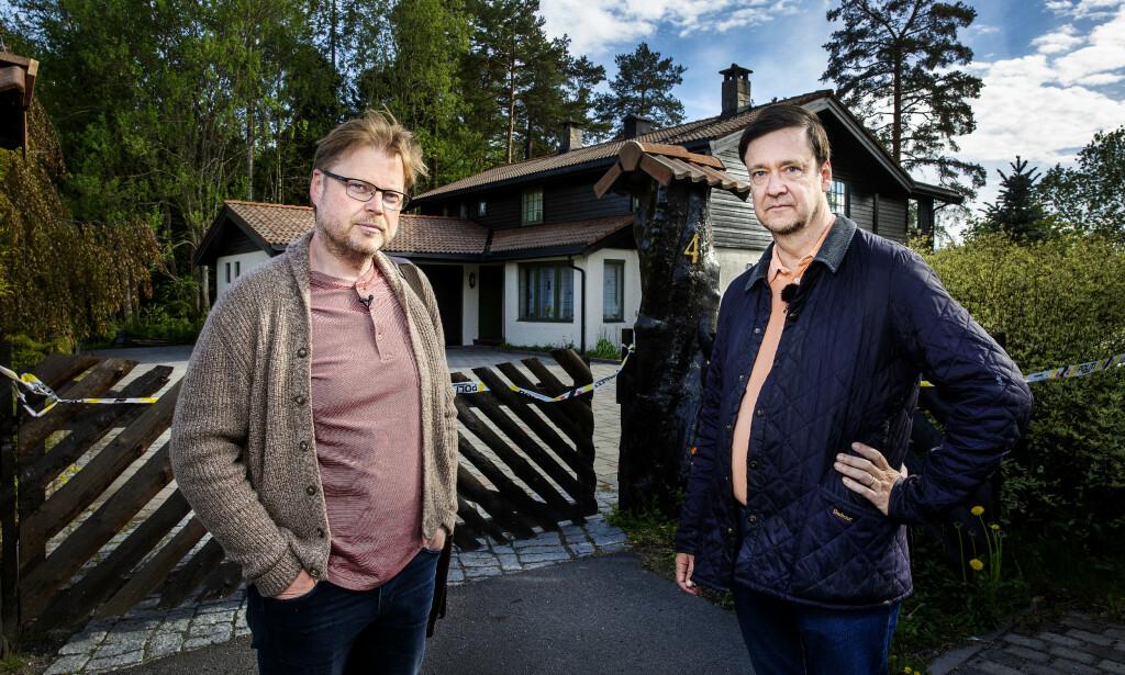 TVILER PÅ OPPKLARING: Både Jørn Lier Horst (t.v.) og Jon Christian Elden er i tvil om mysteriet og det det politiet mener er et drap, noen gang blir oppklart. Foto: Henning Lillegård / Dagbladet