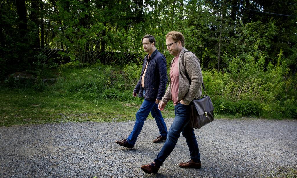 UNIK SAK: John Christian Elden (t.v.) og Jørn Lier Horst karakteriserer Anne Elisabeth Hagen saken som unik og i norsk kriminalhistorie Foto: Henning Lillegård / Dagbladet