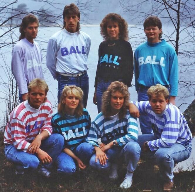 POPULÆRT PÅ 80-TALLET: Merket Ball har delt dette bildet på nettsiden deres. På 80-tallet solgte de 500 000 gensere bare i Skandinavia. Foto: Ball