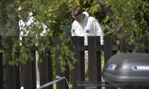 UNDERSØKER: En tekniker gjør undersøkelser ved boligen. Foto: Lars Eivind Bones / Dagbladet
