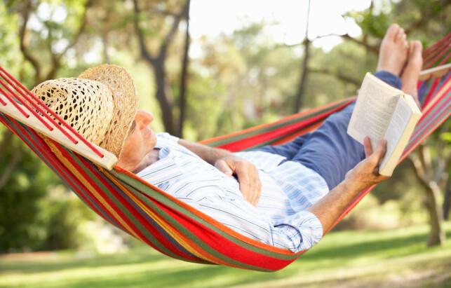 BEHAGELIG: Det er lite som slår det å døse i en hengekøye med en god bok i ferien. Foto: Shutterstock