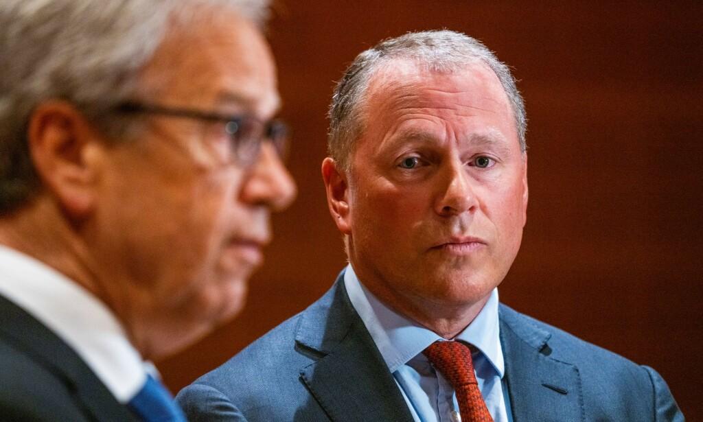 PRESSEKONFERANSE I DAG: Nicolai Tangen signerte i går ansettelsesavtalen som ny sjef i Oljefondet, Statens pensjonsfond utland. Foto: NTB Scanpix