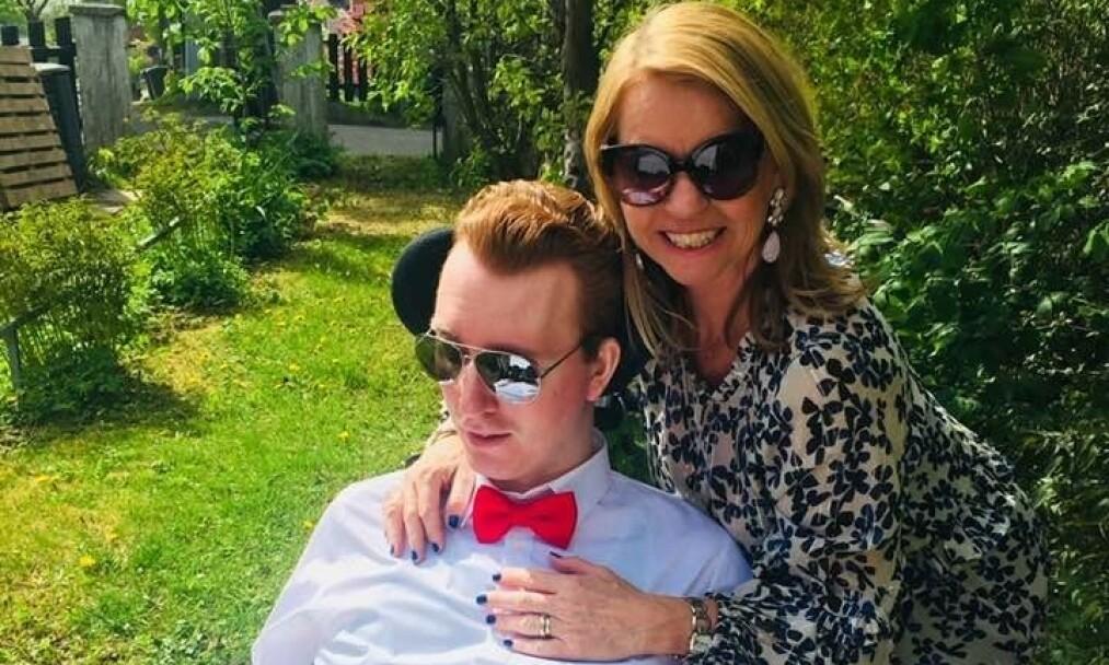 DØD: Ellen Arnstads sønn, Joachim er død. Det skriver hun på sin egen Facebook-side torsdag. Foto: Privat