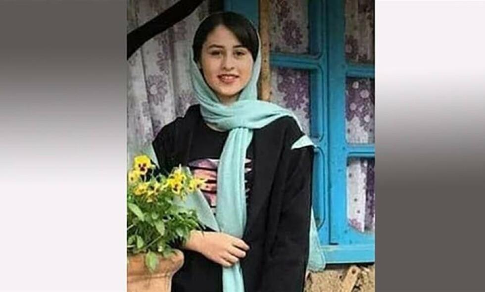 DREPT: Romina Ashrafi (14) ble funnet drept forrige uke. Hennes far er nå siktet for drapet. Foto: Twitter