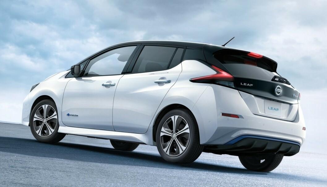 MEST SOLGTE: Nissan Leaf er norges mest solgte elbil, med god margin. Foto: Nissan
