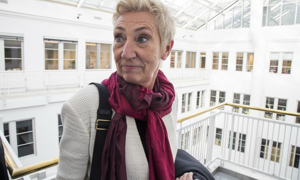 ADVARER: 1. nestleder i LO Peggy Hessen Følsvik advarer regjeringen mot masseoppsigelser hvis ikke permitteringsperioden utvides fra et halvt til et helt år. Foto: Heiko Junge / NTB Scanpix
