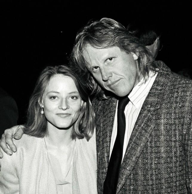 ANERKJENT: Busey har spilt i over 150 filmer, og er med det en av de mest anerkjente skuespillerne i Hollywood. Her er han fotografert med Jodie Foster i 1991. Foto: NTB Scanpix