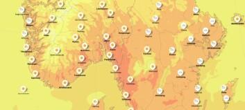 Varmere på Østlandet enn i Aten
