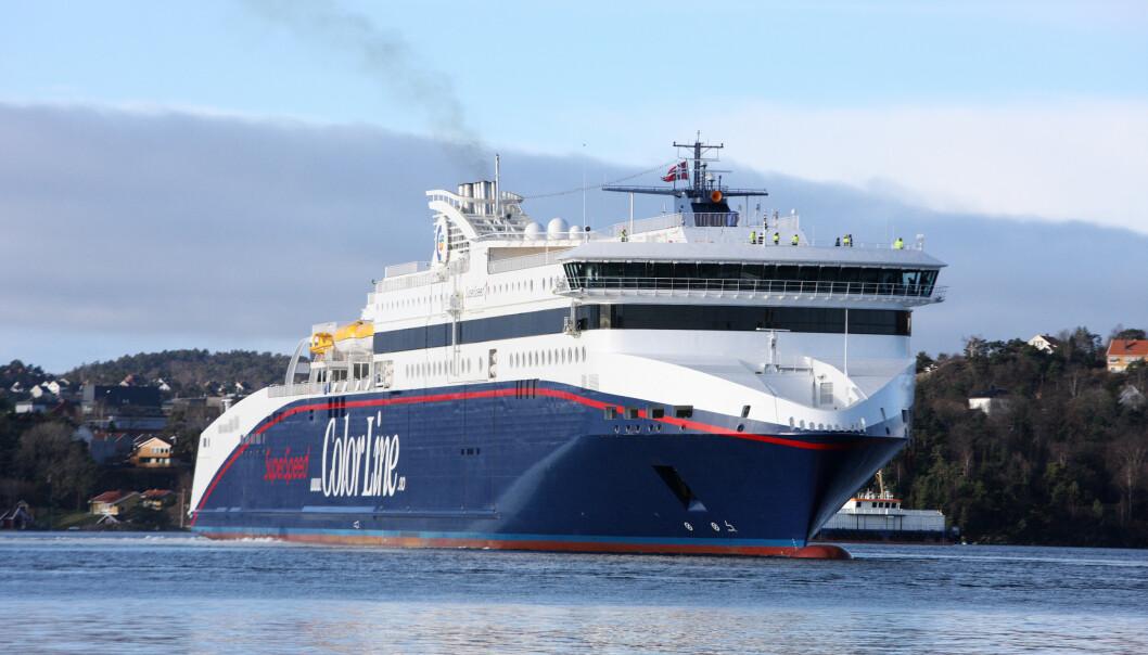 Går alt etter planen, blir Superspeed-seilasene fra Larvik og Kristiansand til Hirtshals tilgjengelig for persontrafikk 15. juni. Foto: Tor Erik Schrøder / NTB scanpix