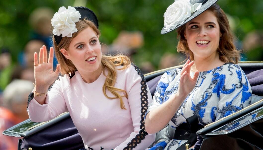 ÅPENHJERTIG: I et nytt intervju forteller en svært ærlig prinsesse Beatrice (til venstre) om diagnosen - som har preget henne hele livet. Her er hun med søsteren prinsesse Eugenie. Foto: NTB Scanpix