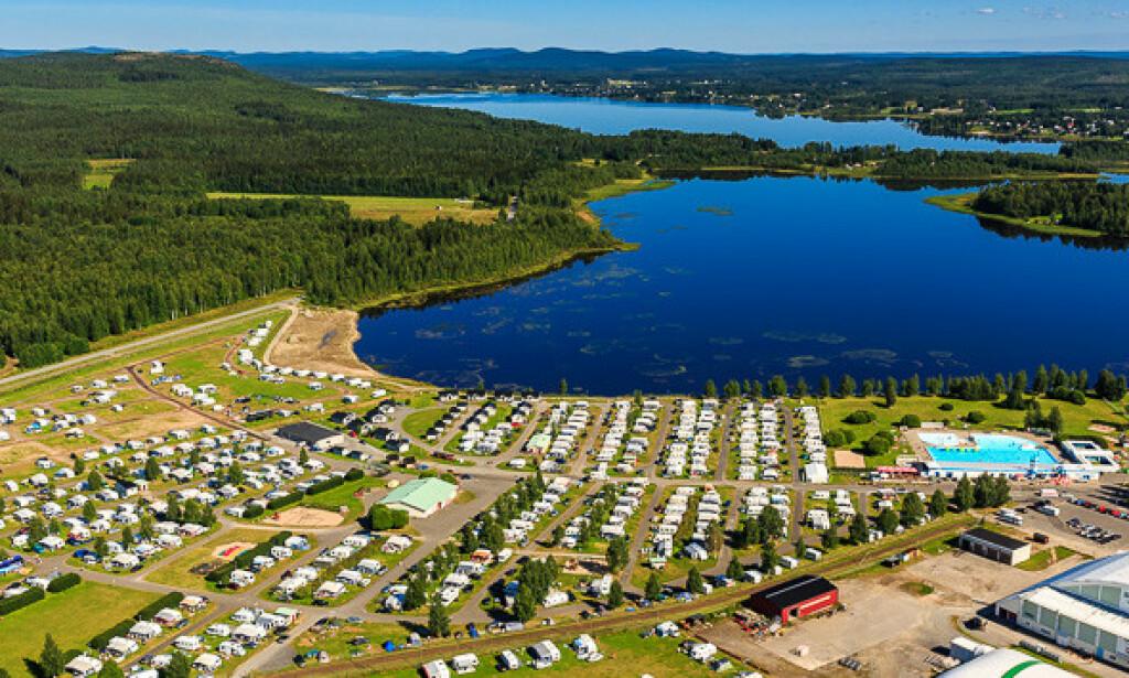BODEN CAMPING: Normalt er nesten alle gjesten på Boden camping fra Norge. Nå har mange avbestilt oppholdet. Foto: Privat