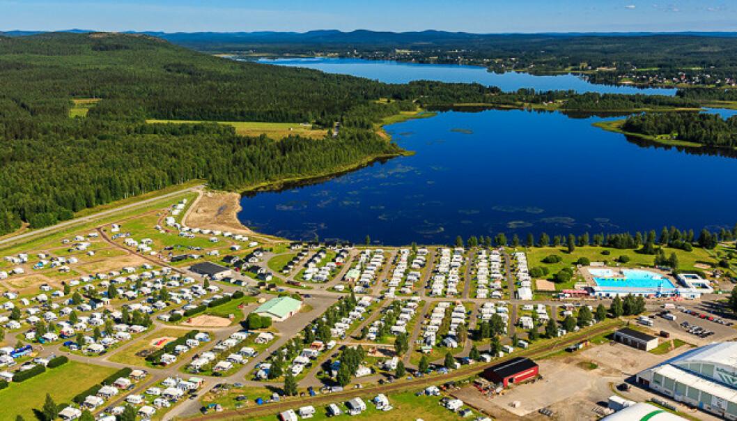 <strong>BODEN CAMPING:</strong> Normalt er nesten alle gjesten på Boden camping fra Norge. Nå har mange avbestilt oppholdet. Foto: Privat