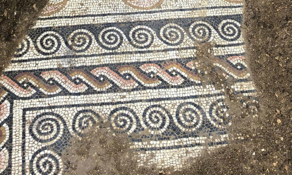 image: Fant mosaikkgulv fra romertida