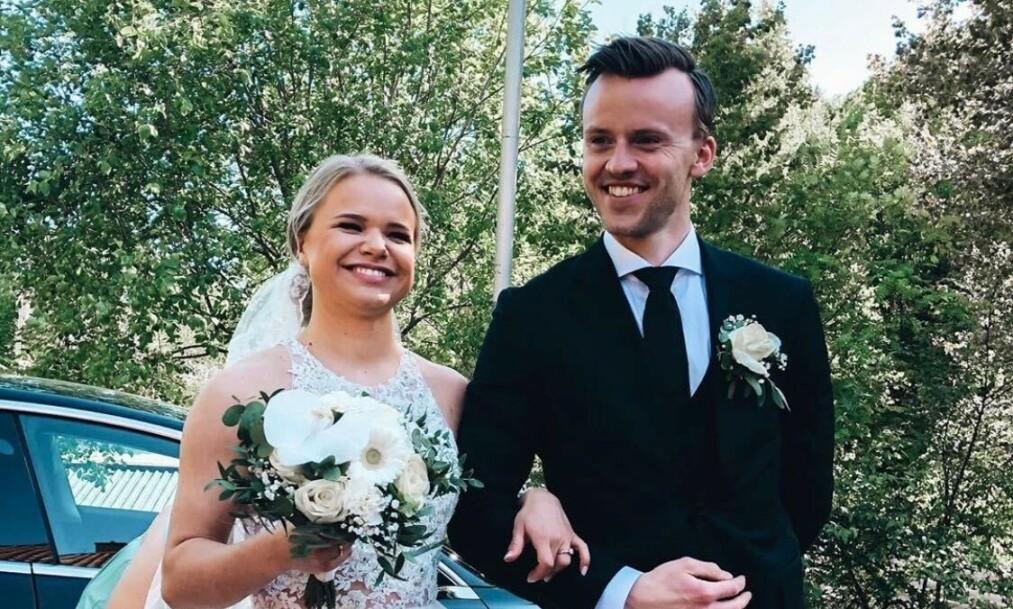 GIFT: Lisa Børud og Chris-Michael Gustavsen giftet seg lørdag. Foto: Kristoffer Ulstein