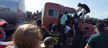 Tankbil kjørte inn i folkemengden