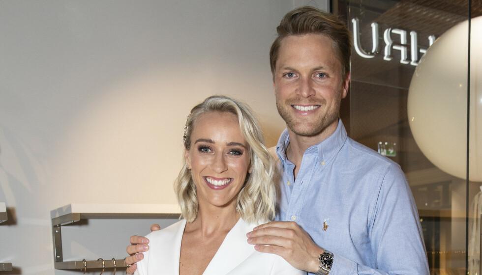 KJØPT HUS: Katarina Flatland og Harald Meling Dobloug har flyttet inn i den nykjøpte villaen på Smestad til 14,5 millioner kroner. Foto: NTB Scanpix