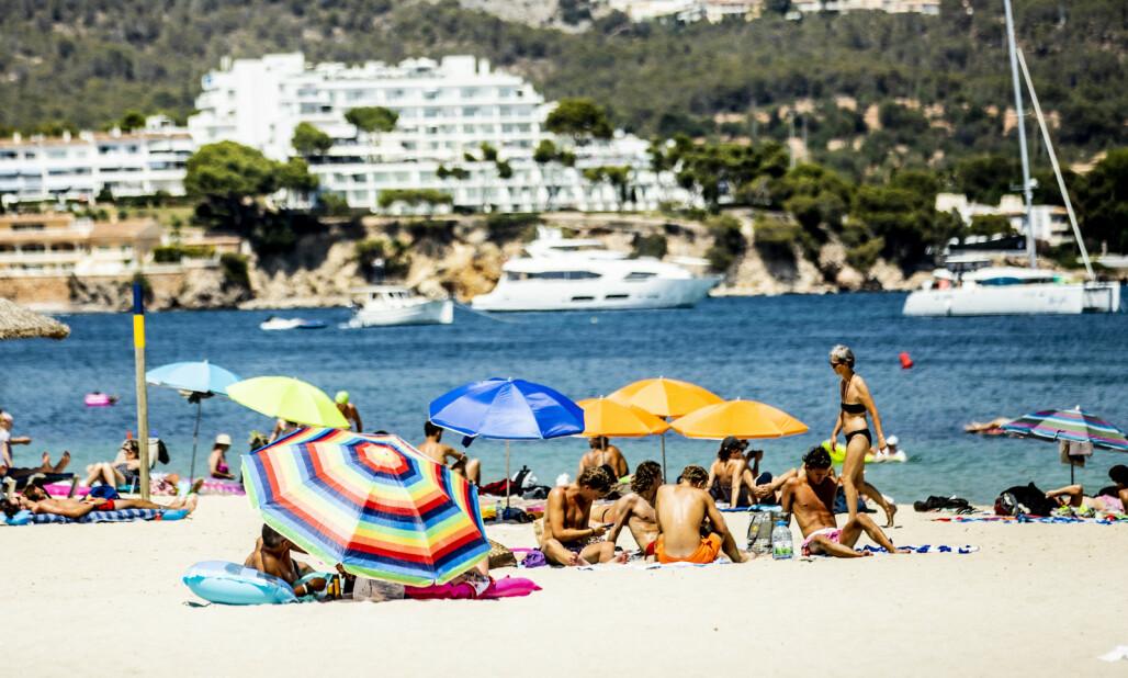 <strong>KUTT:</strong> Norske familier kutter kraftig i feriebudsjettet for 2020, viser en ny undersøkelse. Her fra Magaluf på Mallorca. Foto: Christian Roth Christensen / Dagbladet