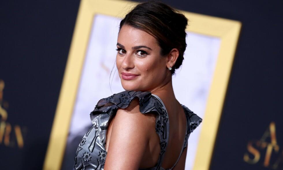 VEKKER STERKE REAKSJONER: Det nylige Twitter-innlegget til skuespiller Lea Michele fikk «Glee»-kollega Samantha Marie Ware til å se rødt. Foto: NTB Scanpix