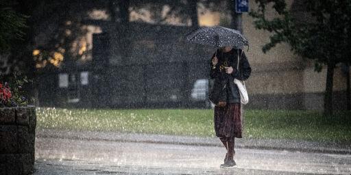 image: Farevarsel om regn i Sør-Norge