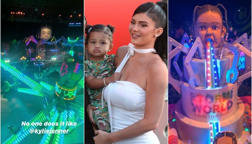 PUNGET UT: Kylie Jenners datter Stormi fylte to år den 1. februar. Det gikk ikke forbi i stillhet. Mamma Kylie bestemte seg for å arrangere det som må være tidenes villeste barnebursdag. Foto: NTB Scanpix / Instagram