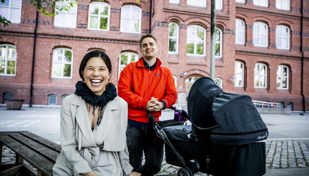 FLYTTER: MDG-politikerne Eivind Trædal og Lan Marie Berg selger leiligheten. Foto: Christian Roth Christensen / Dagbladet