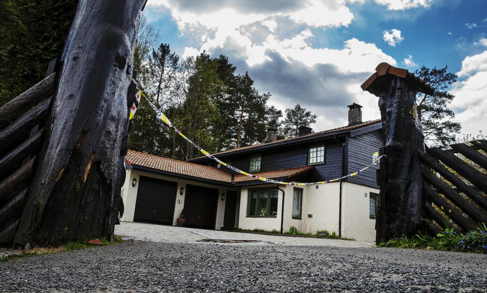 ÅSTED: Ekteparet Hagens bolig i Lørenskog er av politiet omtalt som åstedet. Her ble også trusselbrevet funnet. Foto: Henning Lillegård / Dagbladet
