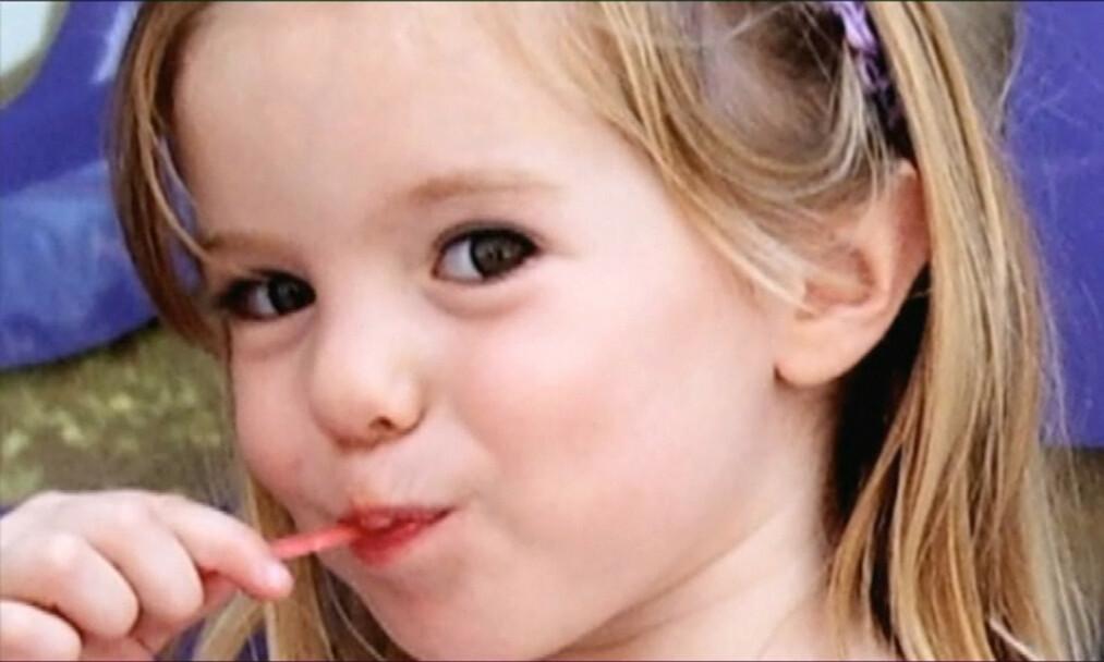 SAVNET I 13 ÅR: Tre år gamle Madeleine McCann forsvant sporløst fra ferieleiligheten hun og familien hadde i Praia da Luz på Algarvekysten i Portugal, 3. mai 20017. Foto: REX / NTB scanpix