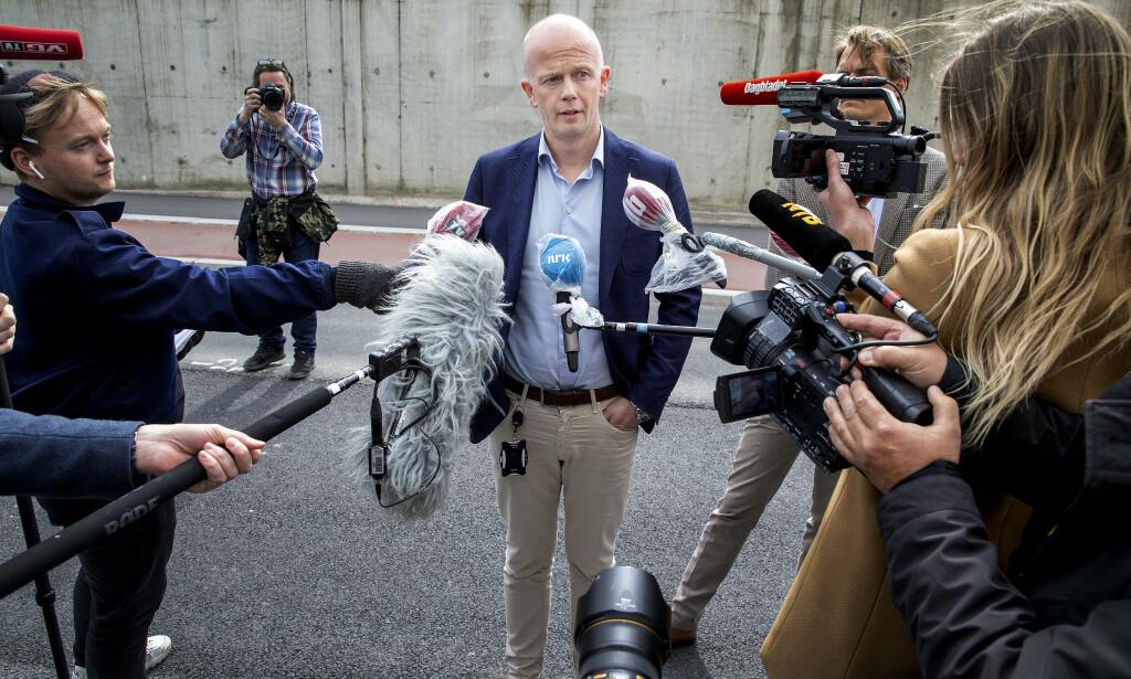 FORSVARER: Svein Holden. Foto: Henning Lillegård / Dagbladet